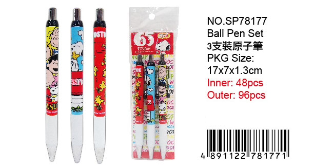 SNOOPY BALL-PEN (3PCS)