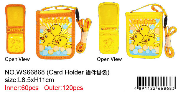 BEBE DUCK CARD HOLDER
